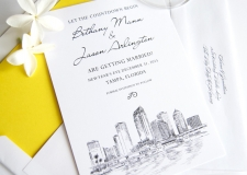 Tampa Skyline Save the Date Cards