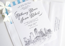 Tampa Skyline Wedding Invitations