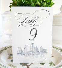 Tampa Skyline Table Numbers