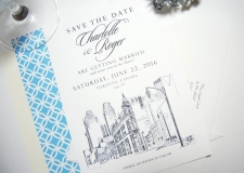 Toronto Flatiron Skyline Save the Dates