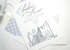 Tornoto Skyline Rehearsal Dinner Invitations