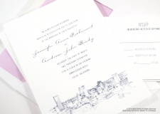 Tulsa Skyline Wedding Invitations