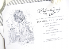 University of South Carolina Skyline Rehearsal Dinner Invitations