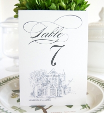 University of Alabama Table Numbers