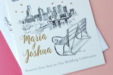 Philadelphia Skyline View Skyline Save the Date Cards