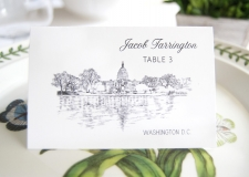 Washington DC Skyline Place Cards