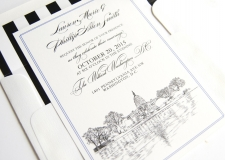 Washington, D.C. Skyline Wedding Invitations
