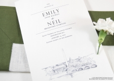 Washington, DC Skyline Wedding Programs