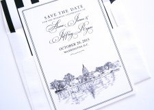 Washington DC Skyline Save the Date Cards