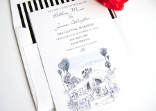 Willows Inn Palm Springs Wedding Invitations